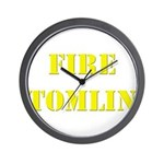 Fire Tomlin Outline Wall Clock