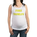 Fire Tomlin Outline Maternity Tank Top