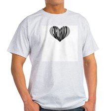 English Horn Heart Ash Grey T-Shirt
