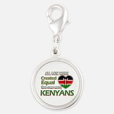 Kenyan wife designs Silver Round Charm