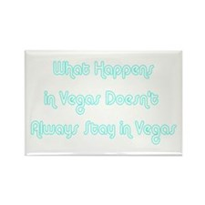 What Happens in Vegas Doesn't Rectangle Magnet