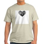 Flugelhorn Heart Ash Grey T-Shirt