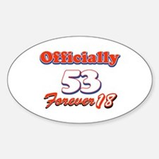 Funny 53 year old birthday designs Decal