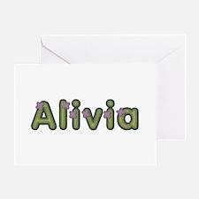Alivia Spring Green Greeting Card