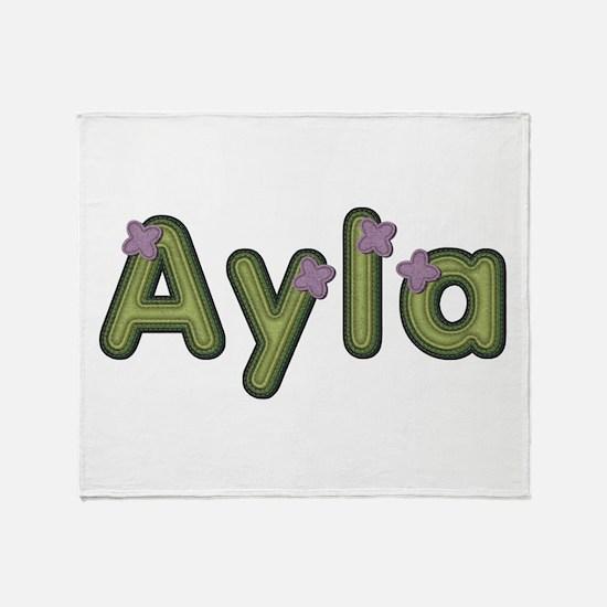 Ayla Spring Green Throw Blanket