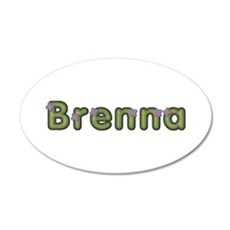 Brenna Spring Green 20x12 Oval Wall Decal