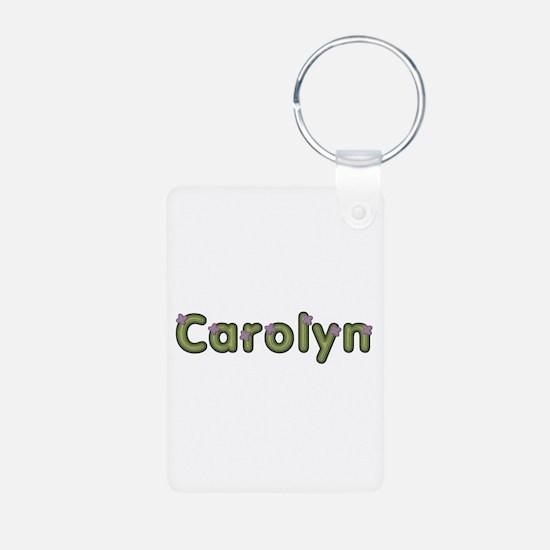Carolyn Spring Green Aluminum Keychain