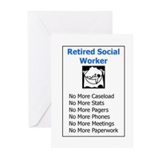 Retired Social Worker Greeting Cards (Pk of 10