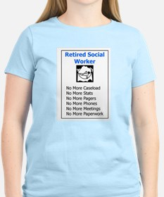 Retired Social Worker Women's Pink T-Shirt