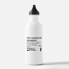 Awkward moment netball designs Water Bottle