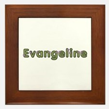 Evangeline Spring Green Framed Tile