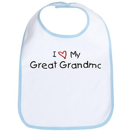 I Love My Great Grandma Bib