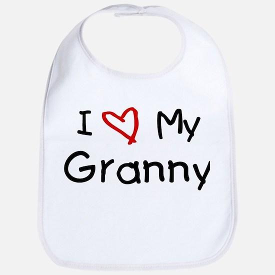 I Love My Granny Bib