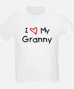 I Love My Granny Kids T-Shirt