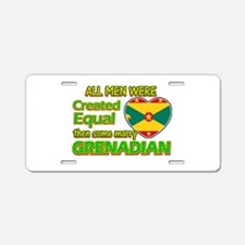 Grenadian wife designs Aluminum License Plate