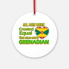 Grenadian wife designs Ornament (Round)