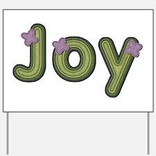 Joy Spring Green Yard Sign