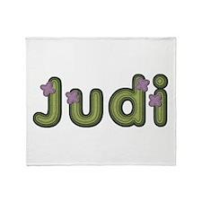 Judi Spring Green Throw Blanket