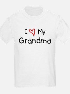 I Love My Grandma Kids T-Shirt
