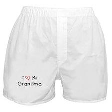 I Love My Grandma Boxer Shorts