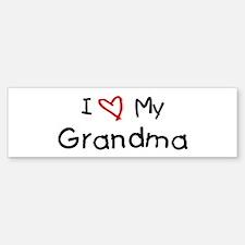 I Love My Grandma Bumper Bumper Bumper Sticker