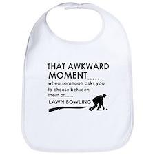 Awkward moment lawn bowling designs Bib