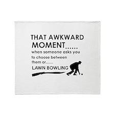 Awkward moment lawn bowling designs Throw Blanket