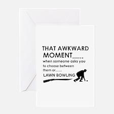 Awkward moment lawn bowling designs Greeting Card