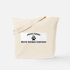 White German Shepherd: Proud  Tote Bag