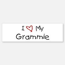 I Love My Grammie Bumper Bumper Bumper Sticker