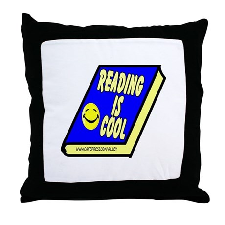 Reading is Cool Throw Pillow