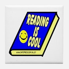 Reading is Cool Tile Coaster