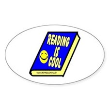 Reading is Cool Oval Decal
