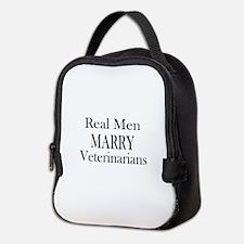 Real Men Marry Veterinarians Neoprene Lunch Bag