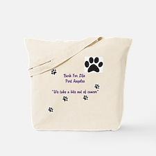 Cute Dog cancer Tote Bag