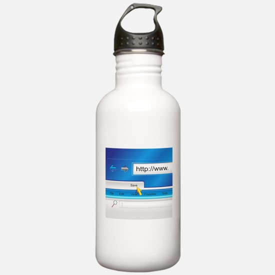 Web Page Browser Water Bottle
