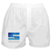 Web Page Browser Boxer Shorts
