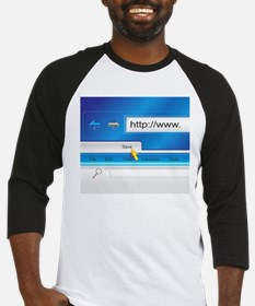 Web Page Browser Baseball Jersey