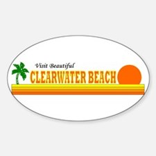 Visit Beautiful Clearwater Be Oval Decal
