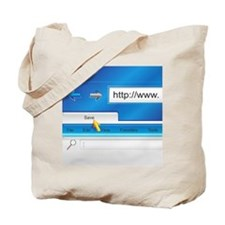 Web Page Browser Tote Bag