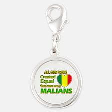 Malian wife designs Silver Round Charm
