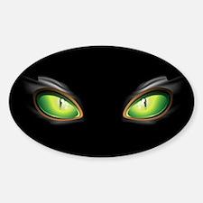 Cat Green Eyes Decal
