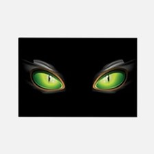 Cat Green Eyes Rectangle Magnet