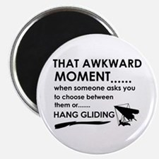 Awkward moment hand gliding designs Magnet