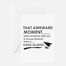 Awkward moment hand gliding designs Greeting Card