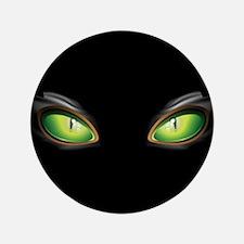 """Cat Green Eyes 3.5"""" Button"""