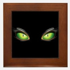 Cat Green Eyes Framed Tile