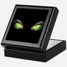 Cat Green Eyes Keepsake Box