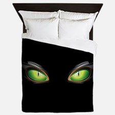 Cat Green Eyes Queen Duvet