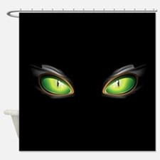 Cat Green Eyes Shower Curtain